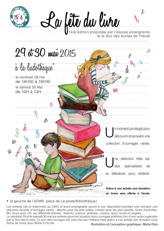 affiche fete du livre 2015