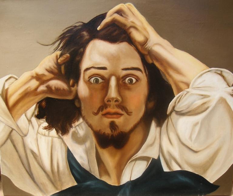 reproduction Courbet le désespéré par Marie DION