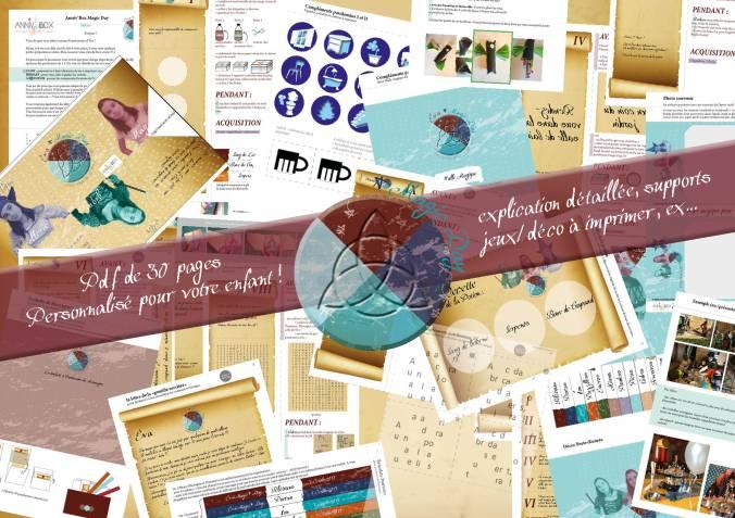 Kit anniversaire personnalisé magic day chasse aux trésors magie halloween invitations harry potter